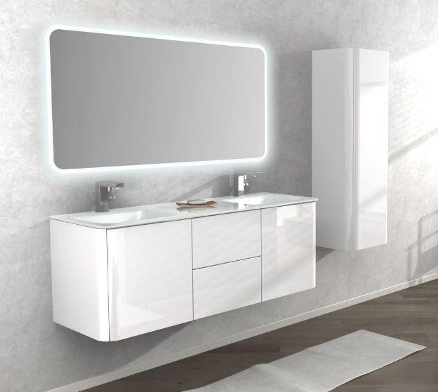 Mobile bagno live 140 doppio lavabo arredo sospeso in più