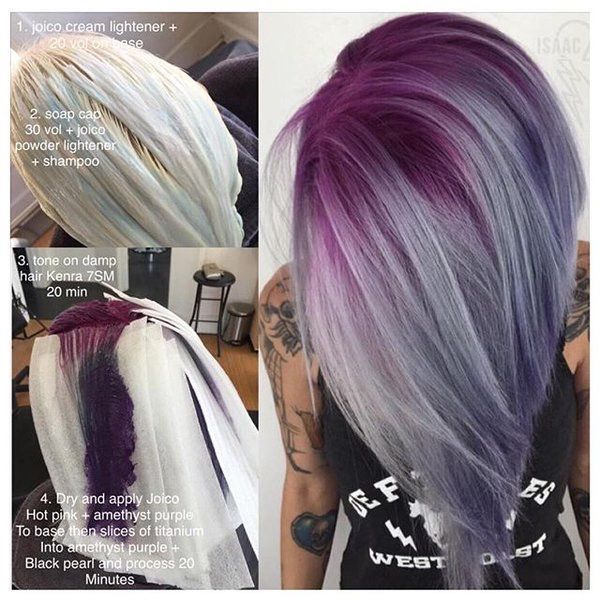 Purple Shadow Root Hair Styles Short Hair Color Short Hair Styles