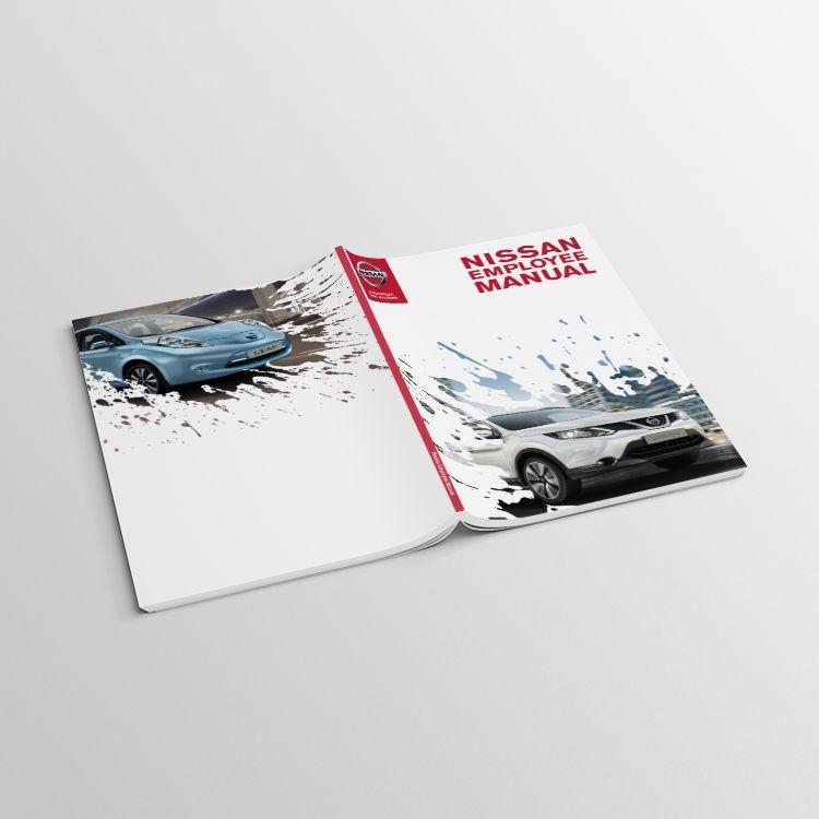 Employee Manual Cover Design For Nissan Europe Branding Logo