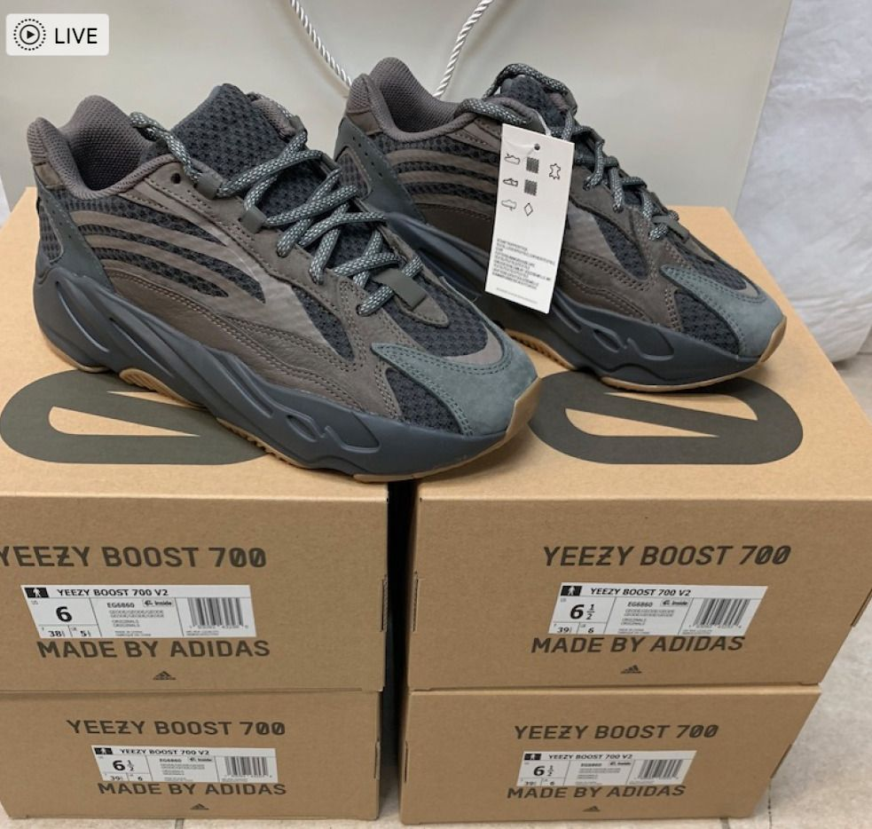 1dd35619fcd eBay  Sponsored Adidas Yeezy Boost 700 V2 Geode Wave Runner EG6860 Sizes   57.5