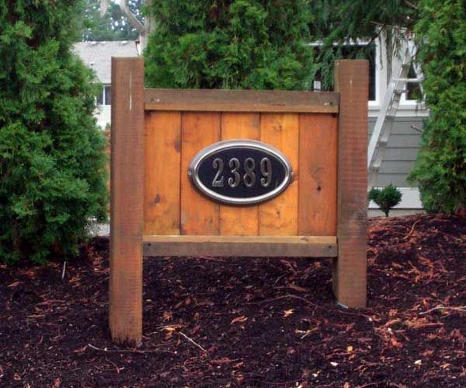 20 Diy Wooden Address Sign Number Ideas For Your Home House Numbers Diy Address Sign Driveway Sign