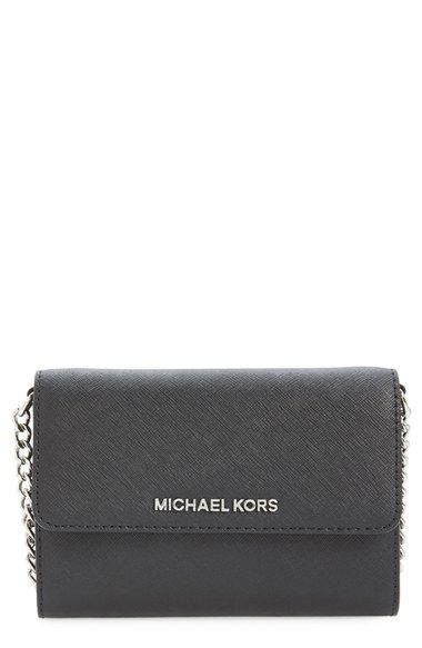 beea308bcbdc MICHAEL Michael Kors 'Large Jet Set' Saffiano Leather Crossbody Bag  available at #Nordstrom