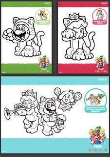 Cat Mario Colouring In Sheets to