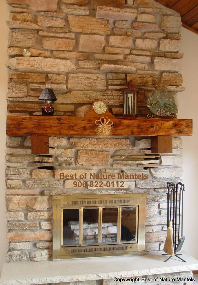 Mantels For Fireplaces Ideas Rustic Fireplace Mantel Log Wood By