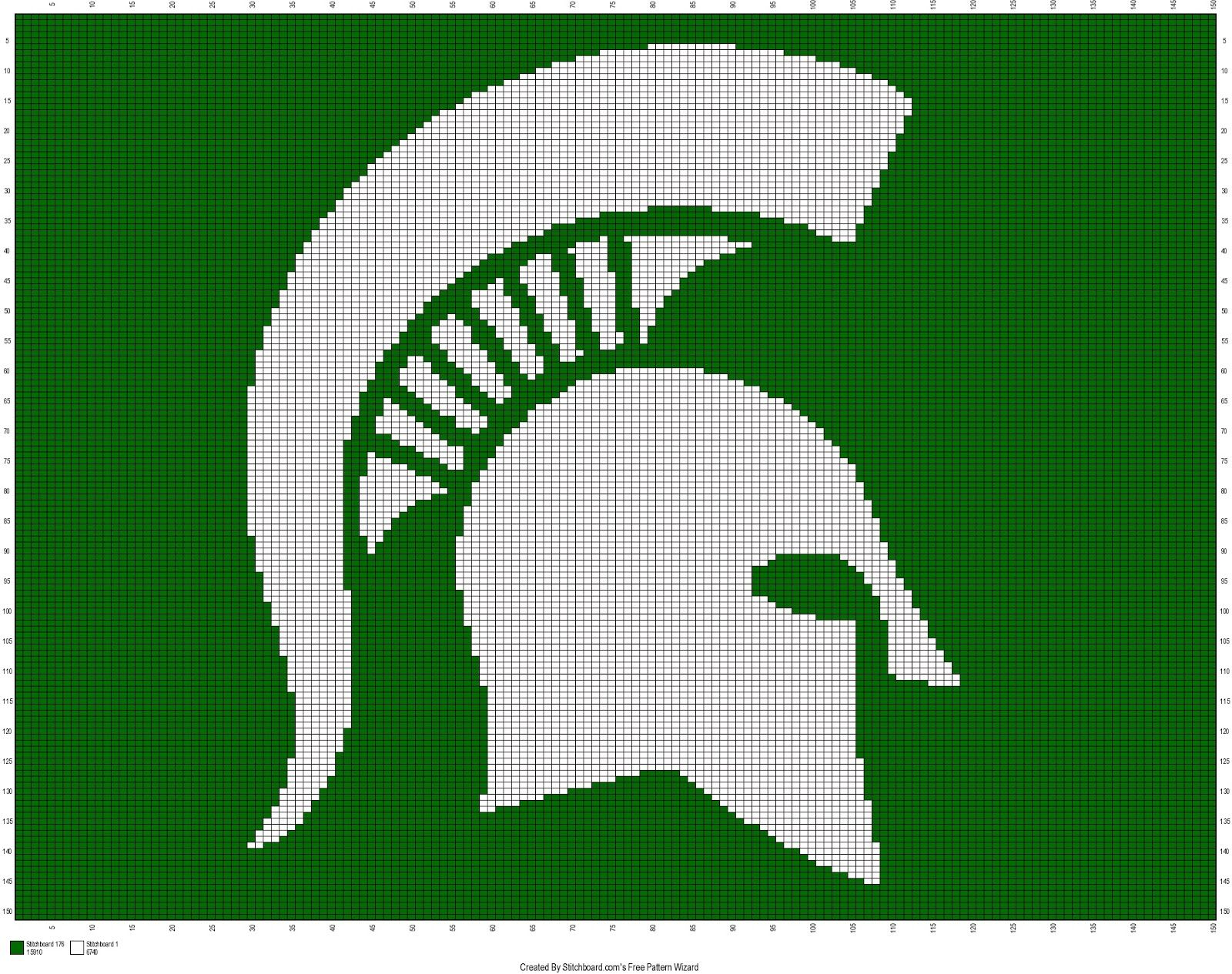 Free Michigan State Spartans Crochet Pattern The Faux Menno: More Free  Sports Crochet Charts