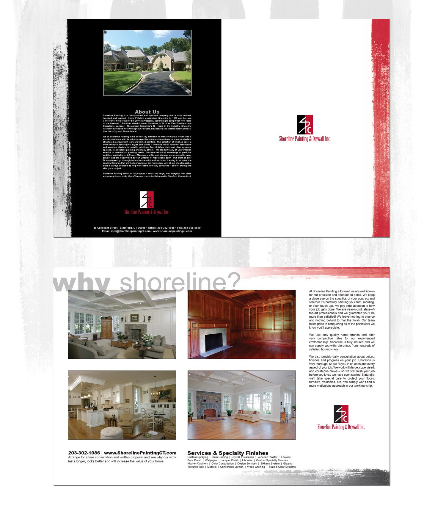 Brochure Design For Painting Company Paint Companies Brochure