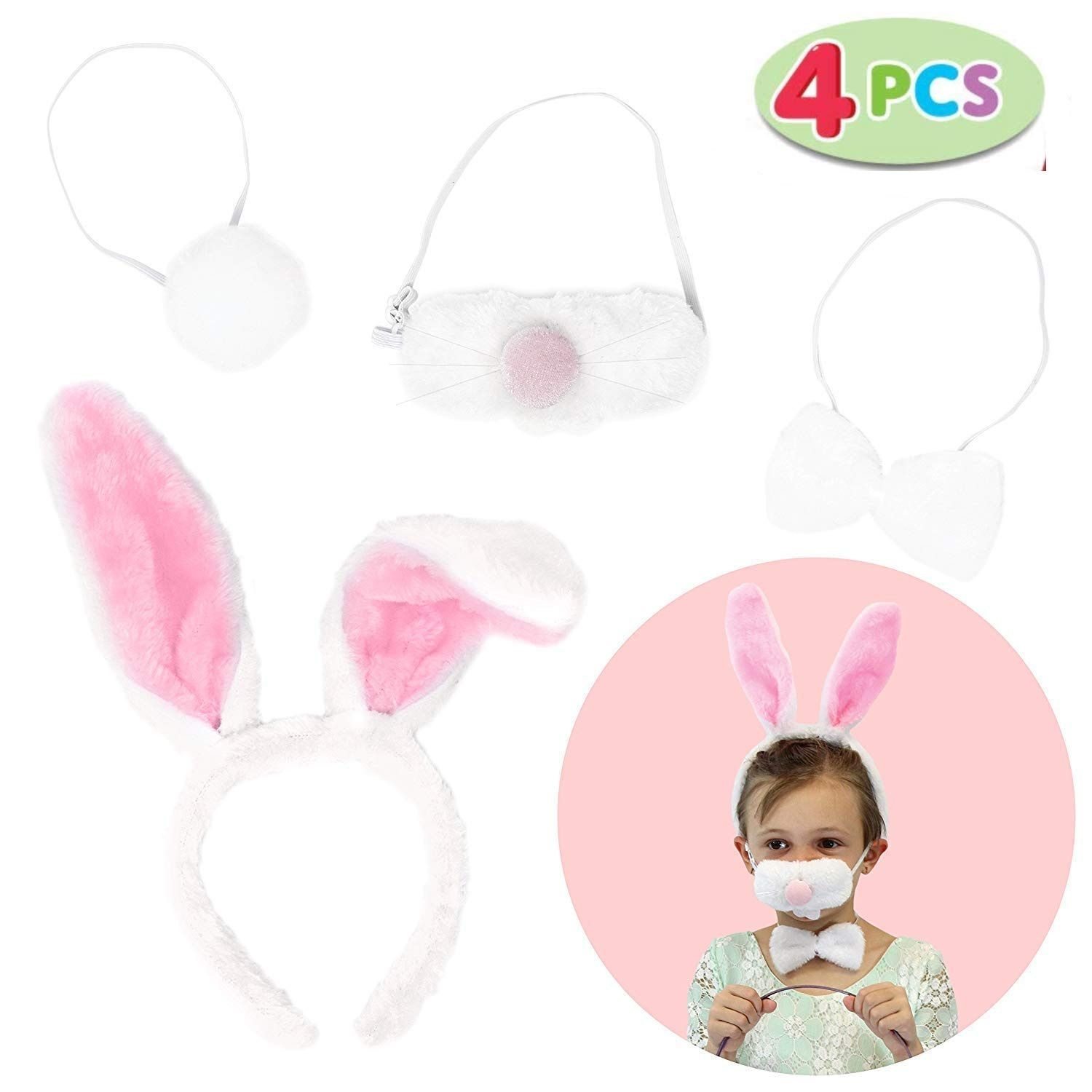 Bunny Rabbit Ears and Tail Set Easter Accessory