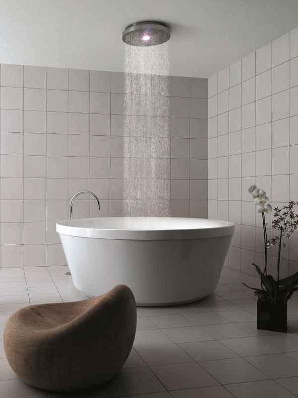 Round methacrylate bathtub GEO 180 by Zucchetti Kos