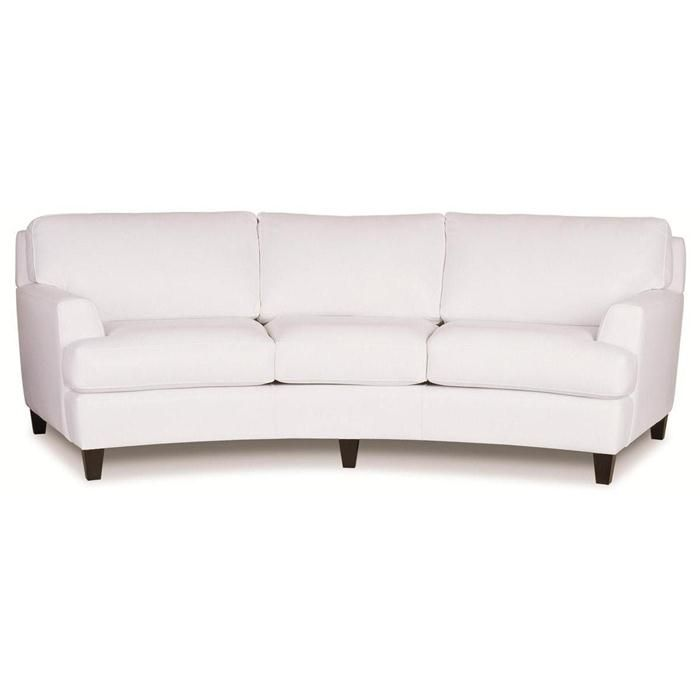 curved sofas and loveseats sofas and loveseats sofas casual - contemporary curved sofa