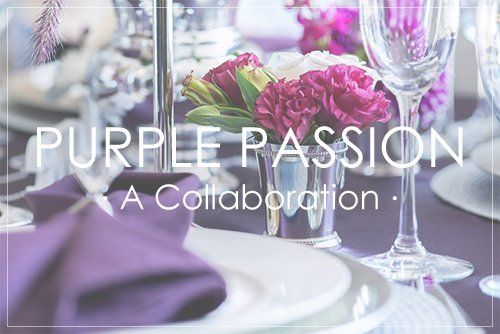 Purple for Fall and Winter Weddings :: A Collaboration | Beau-coup Wedding Blog