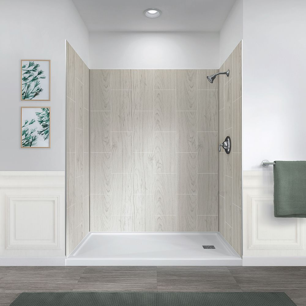 Jetcoat 60 X 32 Five Panel Shower Wall System Bathroom Shower Walls Shower Wall Panels Acrylic Shower Walls