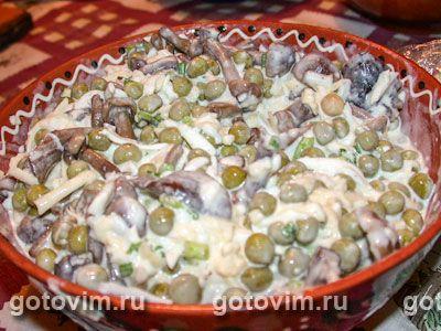 салат радость жеглова рецепт с грибами