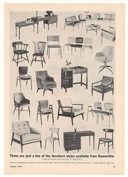 Vintage Furniture Ads Of The 1960s . Baumritter Furniture Chairs Desks  Motel Trade (1963)