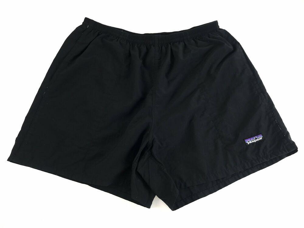 5ddc522634 PATAGONIA Men's BAGGIE SHORTS Black MESH LINER SWIM Trunks Bathing Suit  Large | eBay