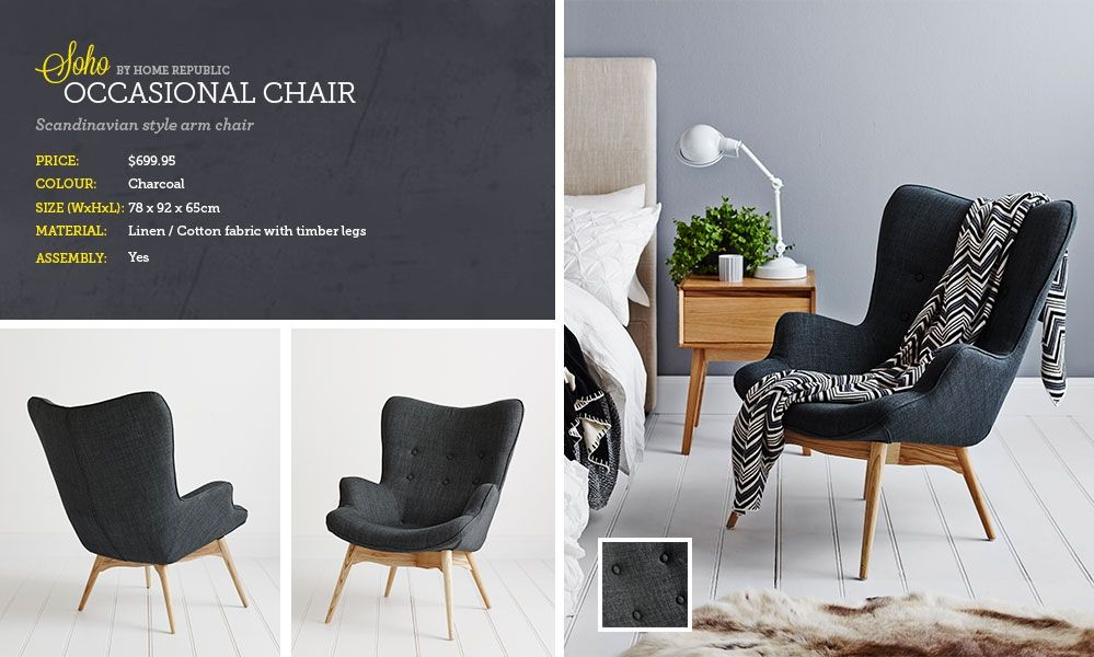 Occasional chairs for bedroom bedroom chairs jazz for Oversized reading chair for sale