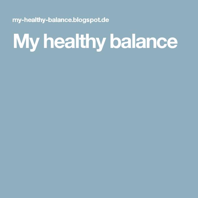 My healthy balance