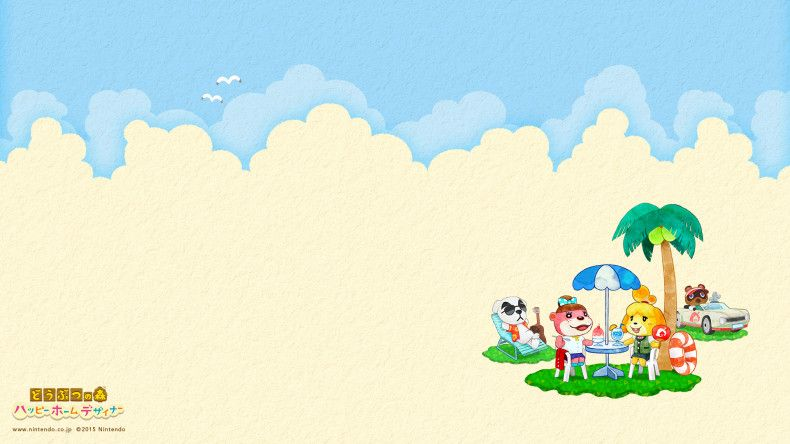 Happy Home Designer Summer Desktop Wallpaper Animal Crossing Characters Animal Crossing Animal Crossing Pc