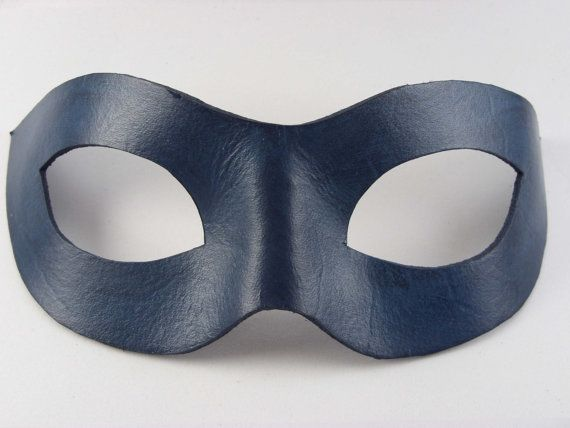 Leather Mask Domino Style Masquerade Ball by SquirrelCrkCreations