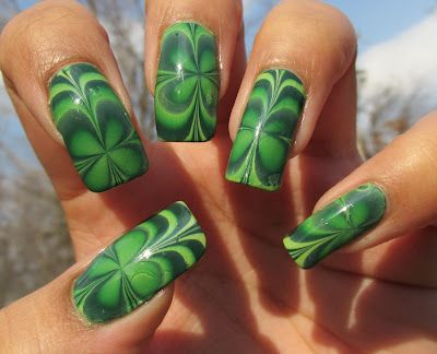 Video tutorial on creating a marbled clover nail design nail video tutorial on creating a marbled clover nail design prinsesfo Gallery