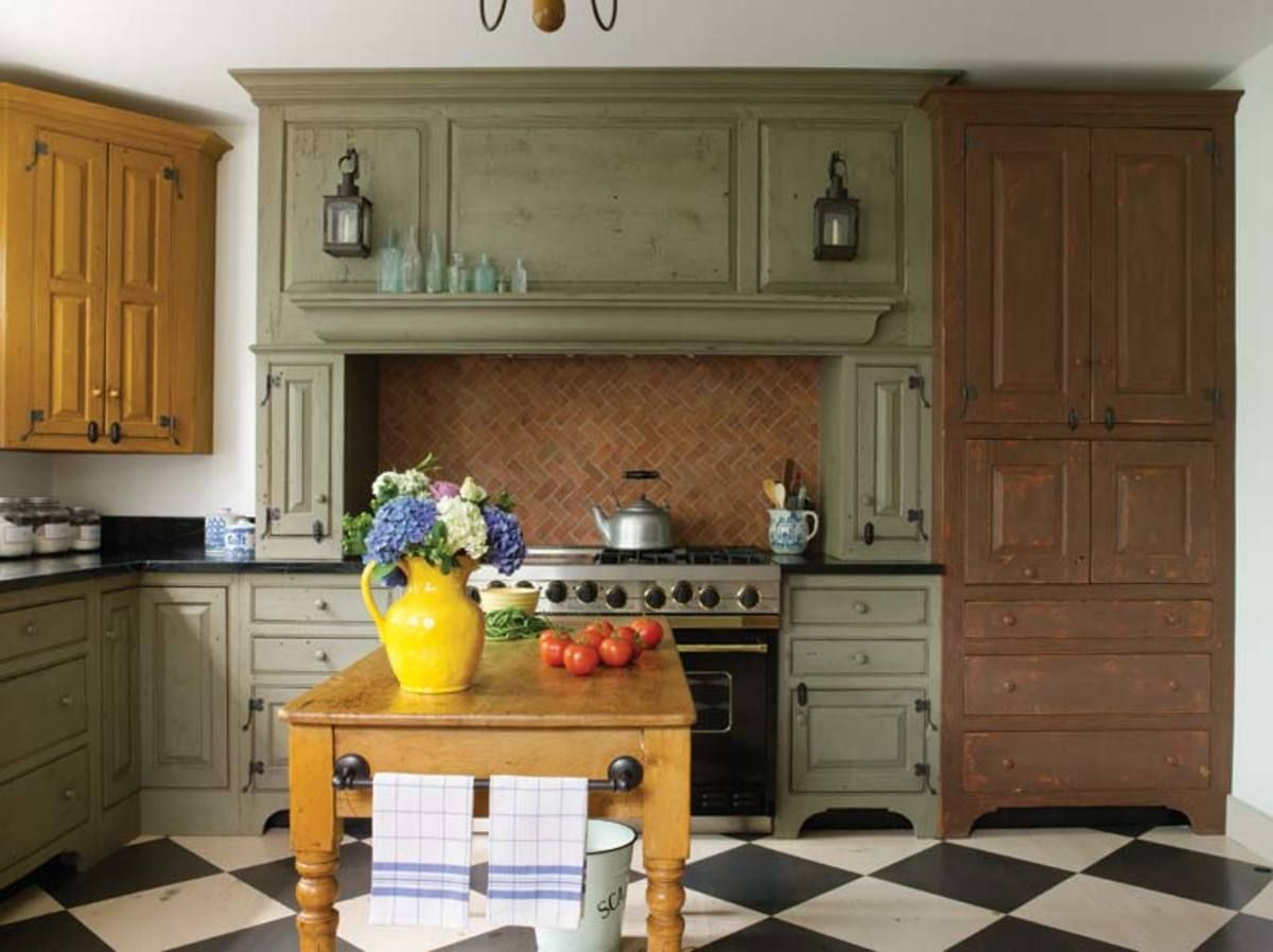 A New Colonial Kitchen Colonial Kitchen Kitchen Cabinet Remodel Kitchen Flooring