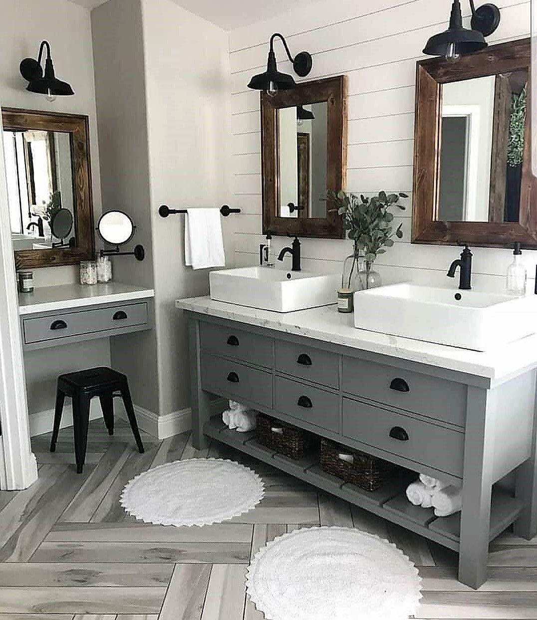 Modern Rustic Bathrooms And Decor Ideas Rustic Home Decor And Design Ideas Farmhouse Bathroom Mirrors Bathroom Mirror Design Bathrooms Remodel