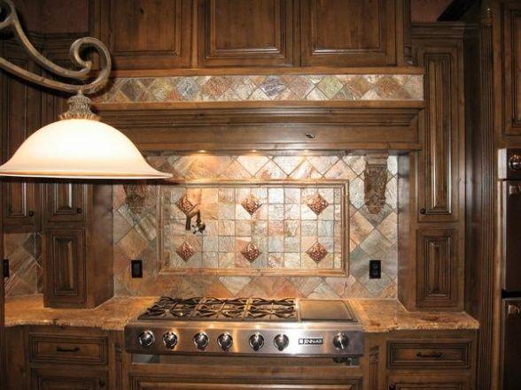 Copper Tile Backsplash Copper Quartzite Kitchen Backsplash, This