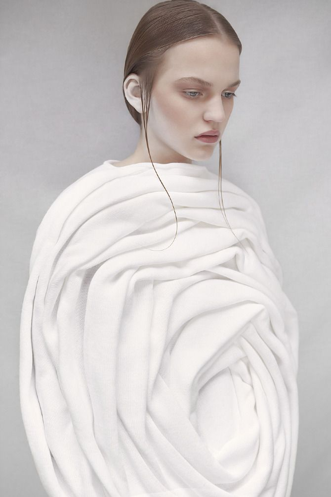Sculptural Rose Cocoon Dress Elodie Laurent
