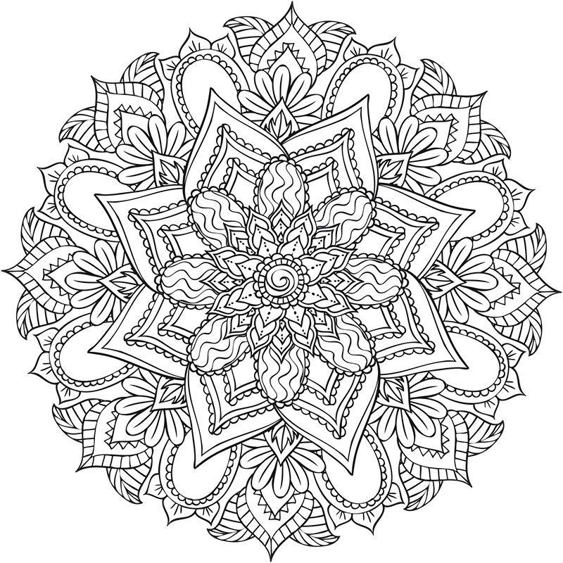 Retrouvez Deux Nouveaux Coloriages Des Mandalas Floraux A Telecharger Imprimer Colorier Mandala A Imprimer Coloriage Image Coloriage