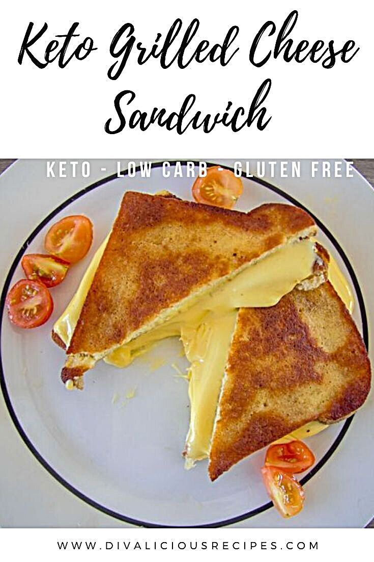 A quick and easy low carb grilled cheese sandwich made with coconut flour. Grilled Cheese Sandwich A...