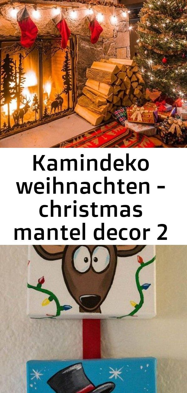 Kamindeko weihnachten  christmas mantel decor 2 Find our decor ideas here shopLuciadesign Painting Crafts Canvases Etsy 16 Best Ideas PRE ORDER  Red Christmas ornaments R...