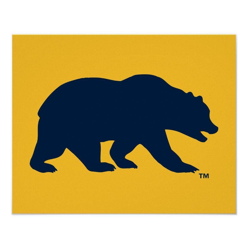 cal blue bear poster zazzle com in