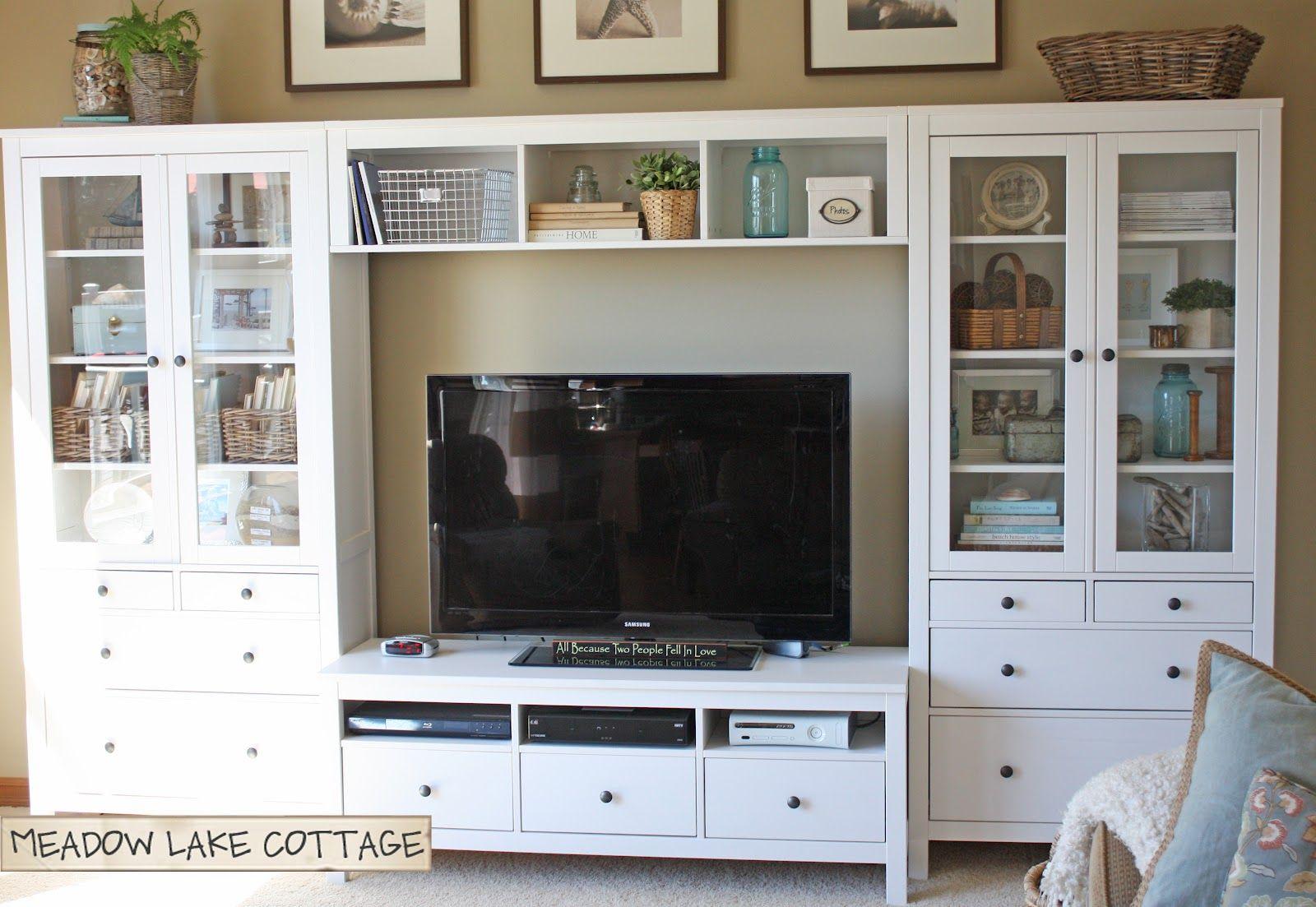 Tv Kast Hemnes Ikea.Entertainment Center Ikea Hemnes White Perfect Setup For The