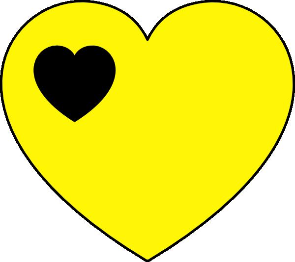 Vector Clip Art Online Royalty Free Public Domain Yellow Heart Heart Clip Art Emoji Wallpaper