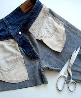 how to properly cut off jeans/pants to make shorts.