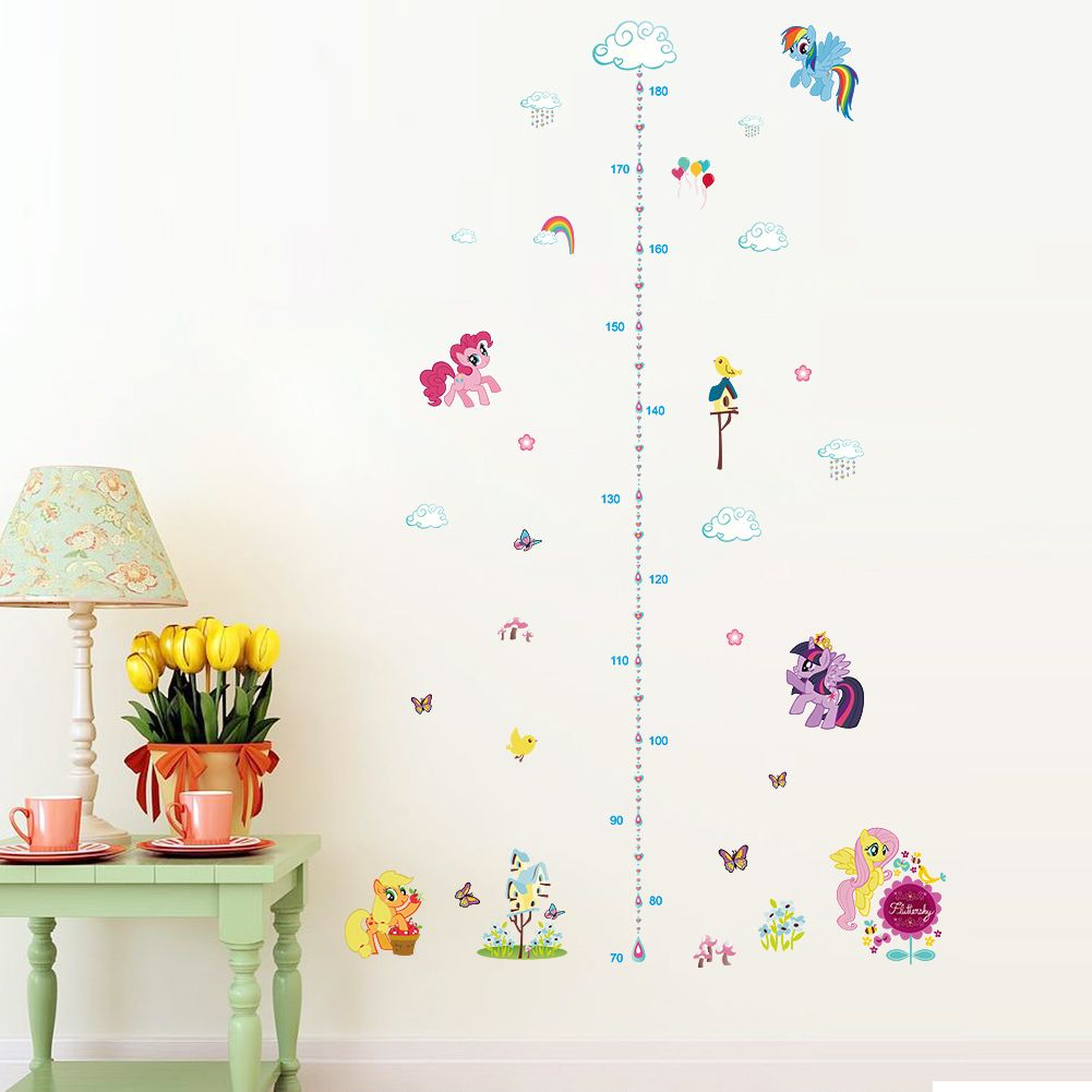Grow with pony growth chart wall stickers decals for kids room home grow with pony growth chart wall stickers decals for kids room home decor animals wall art nvjuhfo Gallery
