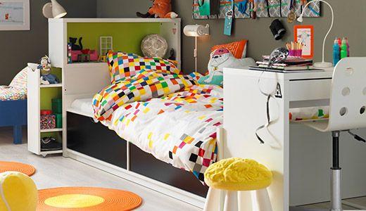 flaxa bettgest mit k sten federholzr wei wohn. Black Bedroom Furniture Sets. Home Design Ideas