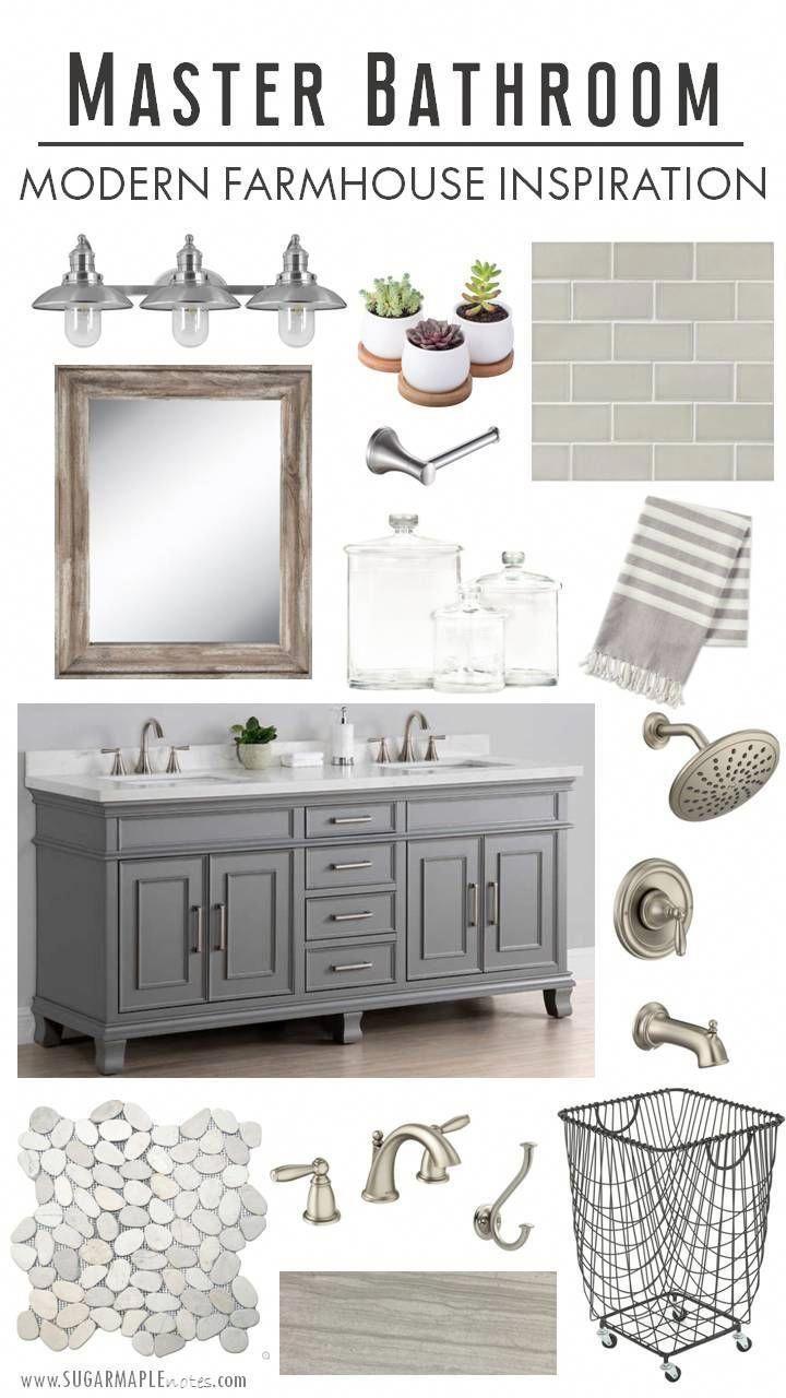 Modern Farmhouse Master Bathroom Inspiration - SUGAR MAPLE notes