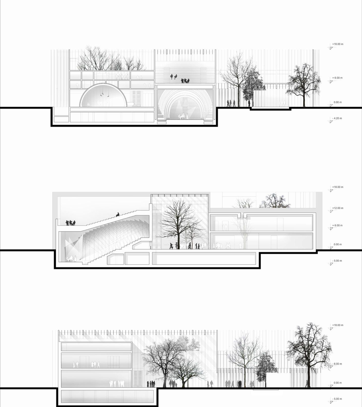 MenoMenoPiu Architects /- - + AA/ · House of Hungarian Music · Divisare