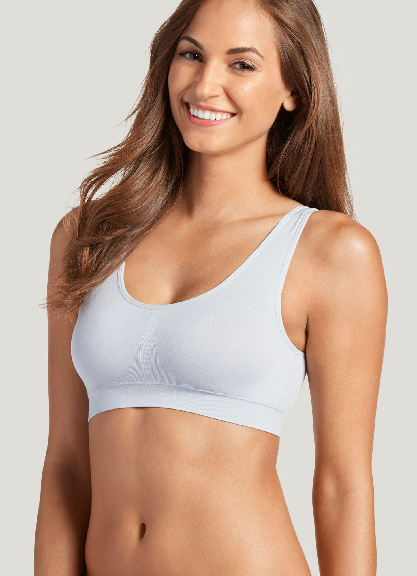 06aaccebf2ff91 Jockey Women s T-Shirts Modern Micro Seamfree Cami Strap Bralette at Amazon  Women s Clothing store