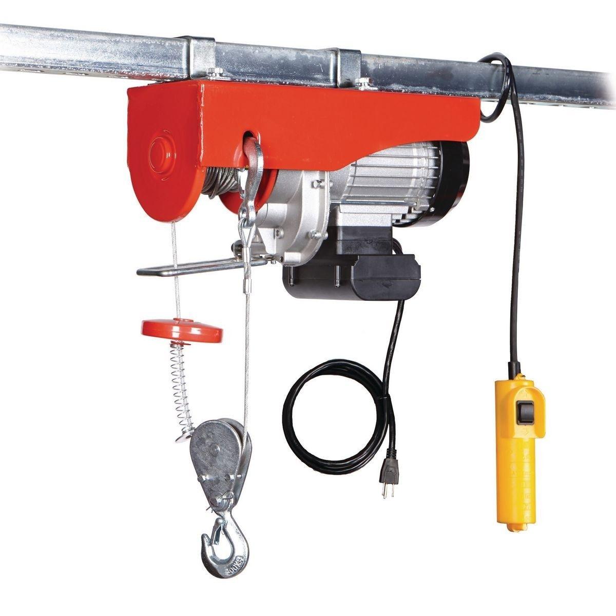 880 Lb Electric Hoist With Remote Control In 2020 Hoist Garage Hoist Garage Workshop Organization