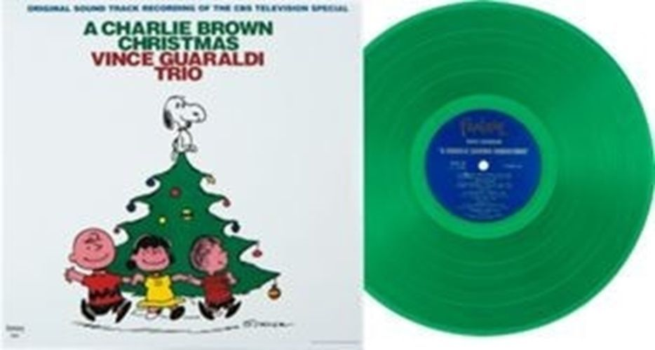 Vince Guaraldi Trio A Charlie Brown Christmas Green Vinyl Charlie Brown Christmas Charlie Brown Vince Guaraldi