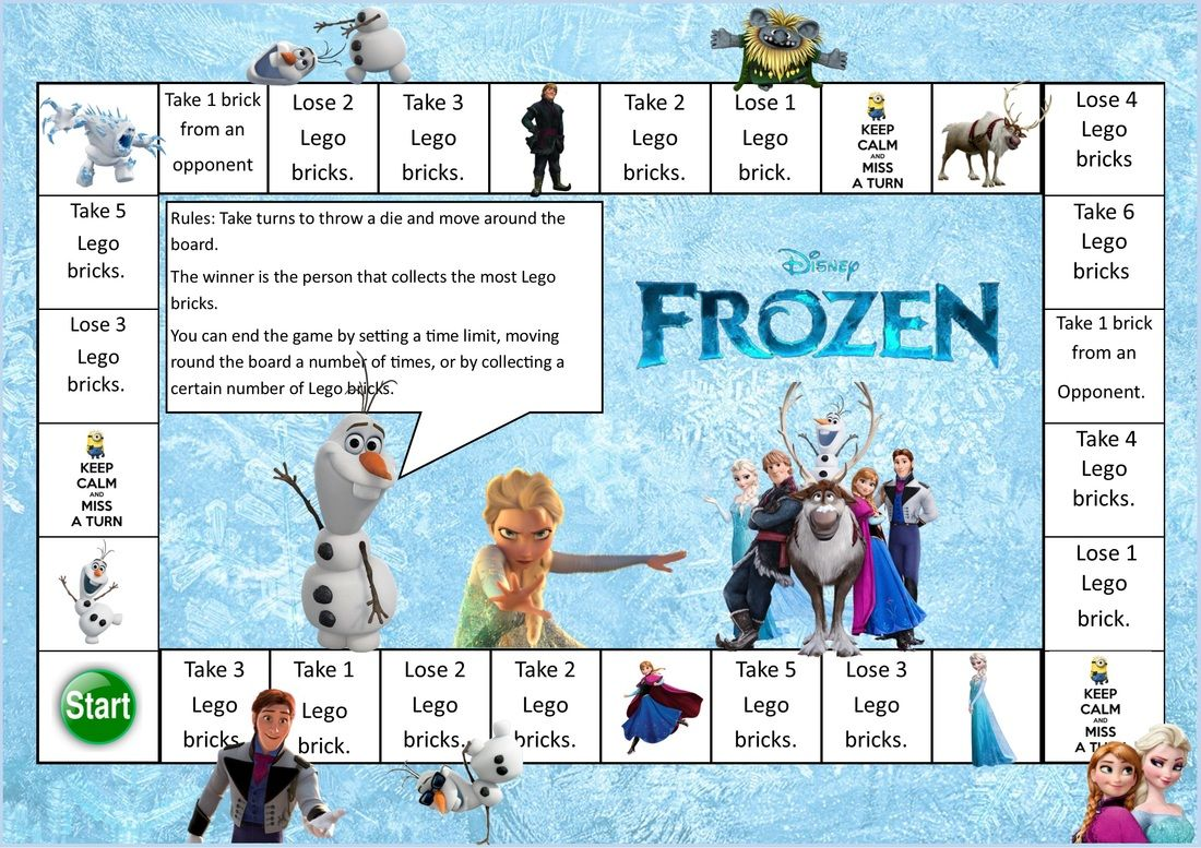 Frozen Themed Lego Maths Game