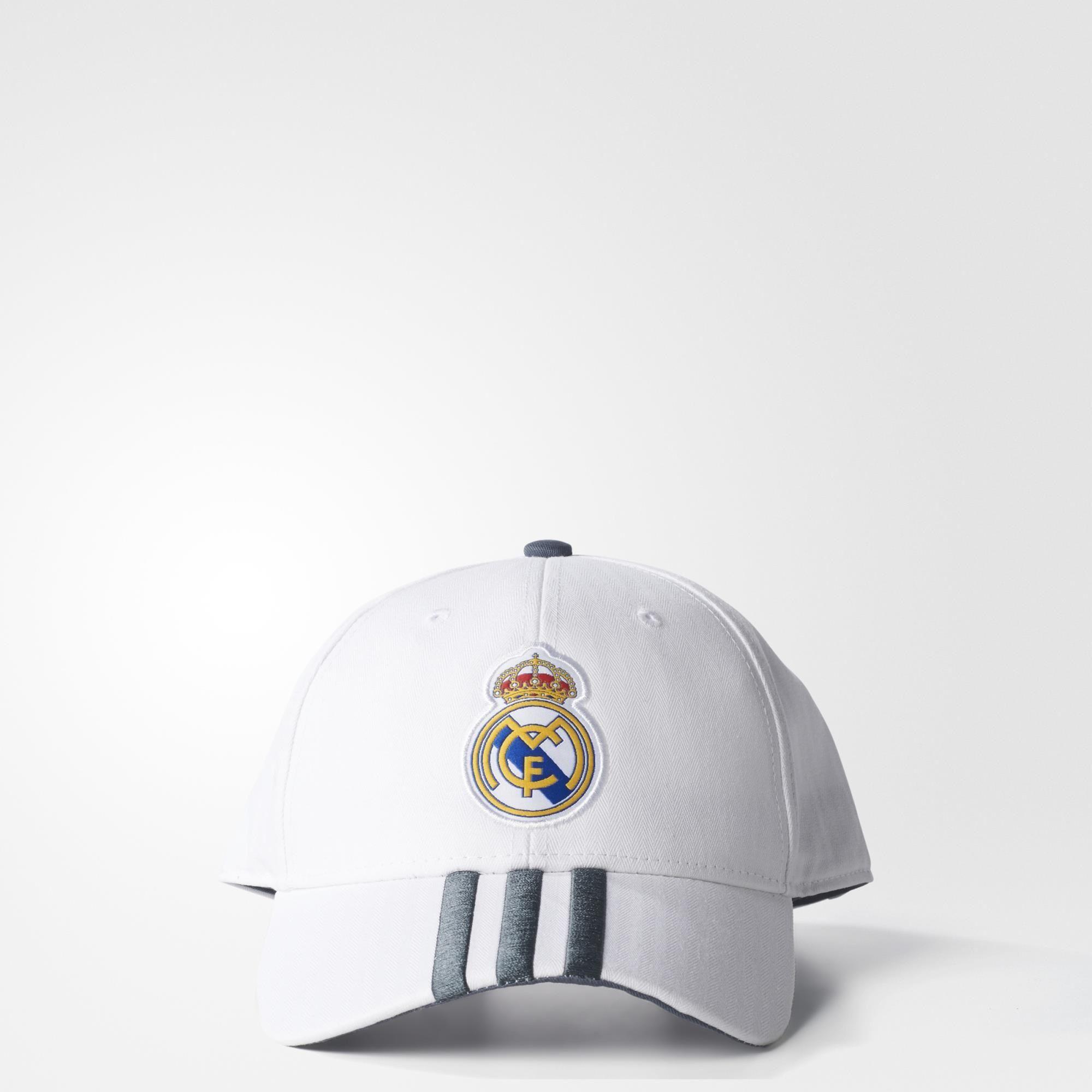 fd27429aa931e adidas Gorra Real Madrid 3 Franjas - White