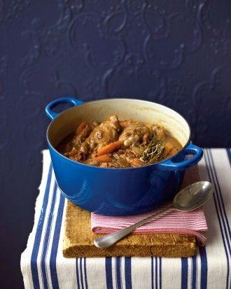 Wine-Braised Chicken via Martha Stewart Food