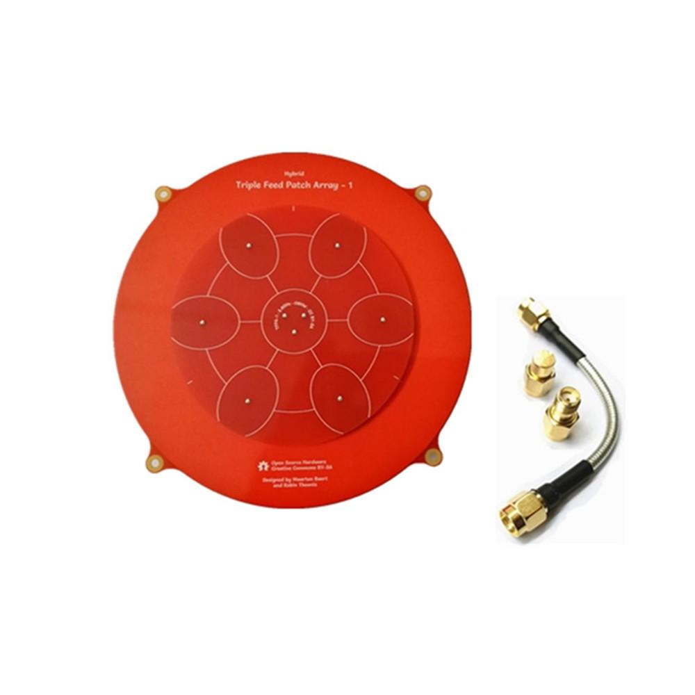 Triple Feed Patch-1 5.8GHz Directional Circular Polarized FPV Pagoda Antenna
