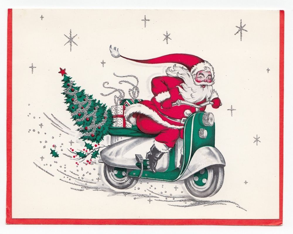 SANTA ON SCOOTER LIGHTED /& MUSICAL CHRISTMAS DECORATION FREE SHIPPING*