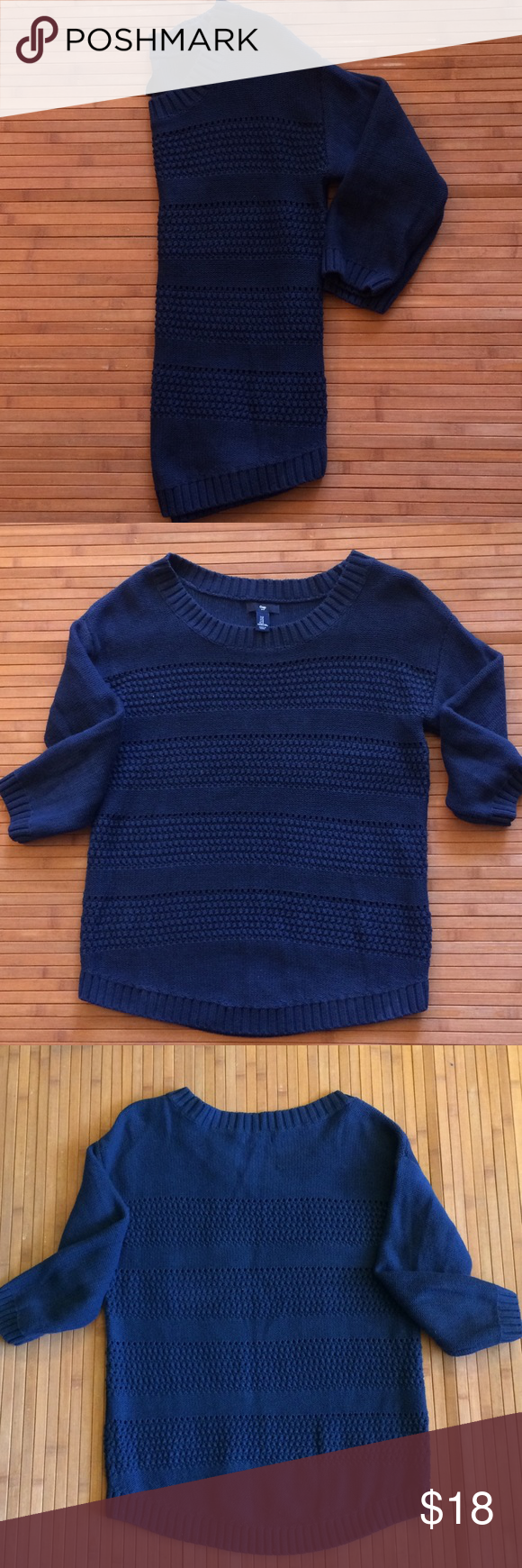 ✨24 Hour Flash Sale! GAP Blue Sweater | Blue sweaters and Scoop neck