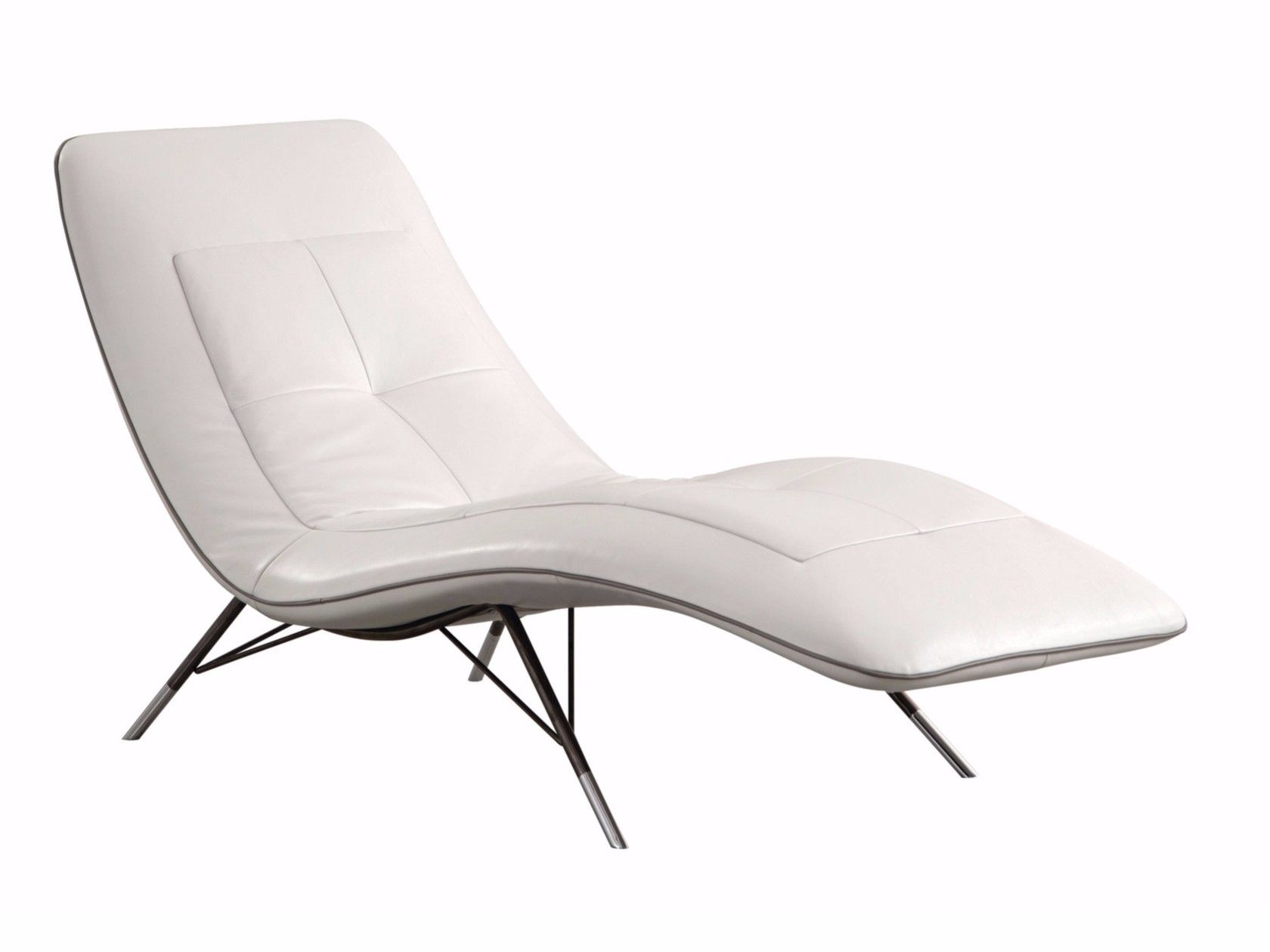 Upholstered Leather Lounge Chair Solaris By Roche Bobois Contemporary Chaise Lounge Chairs Leather Chaise Padded Lounge Chair