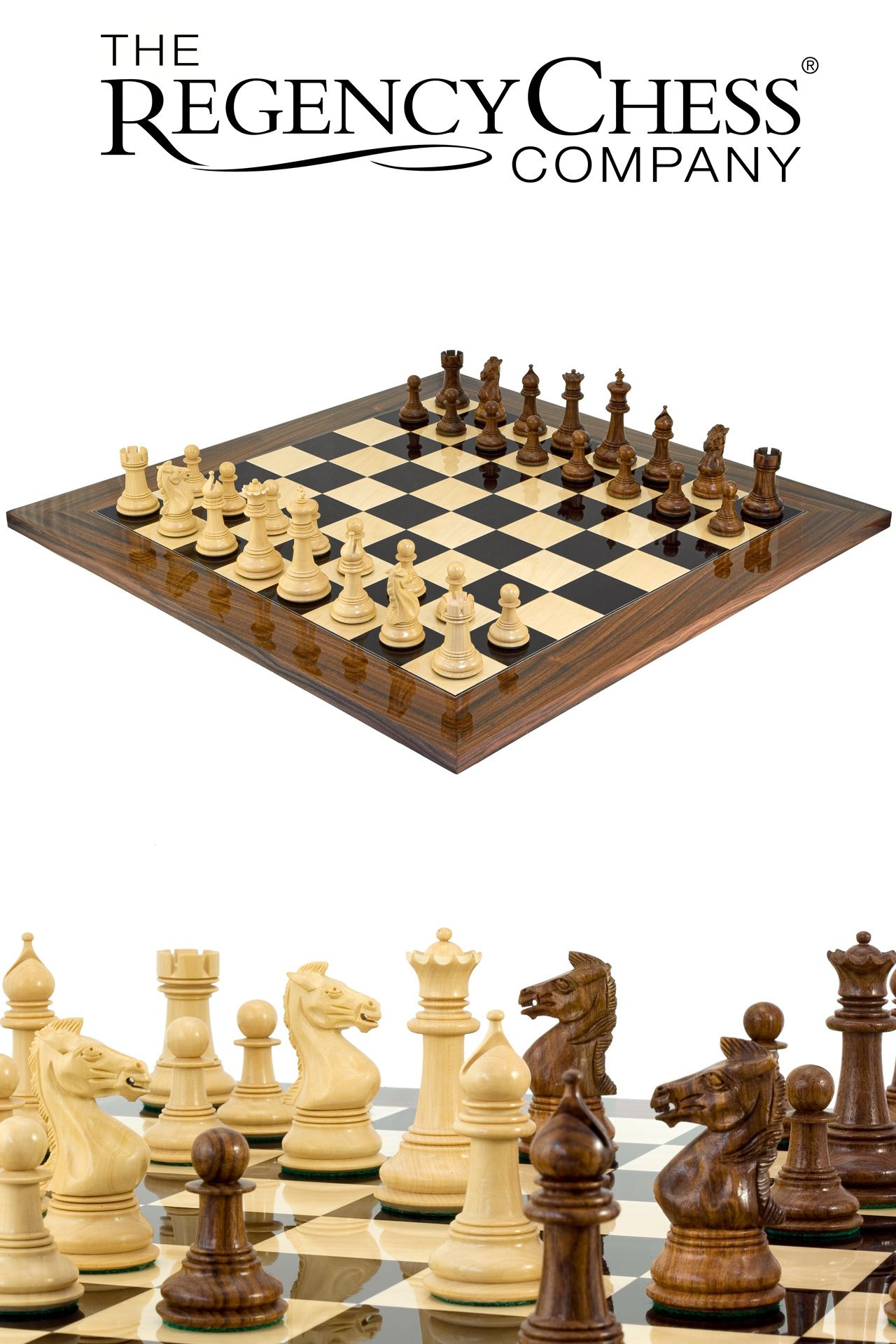 Madrid Grand Palisander Chess Set Šachy