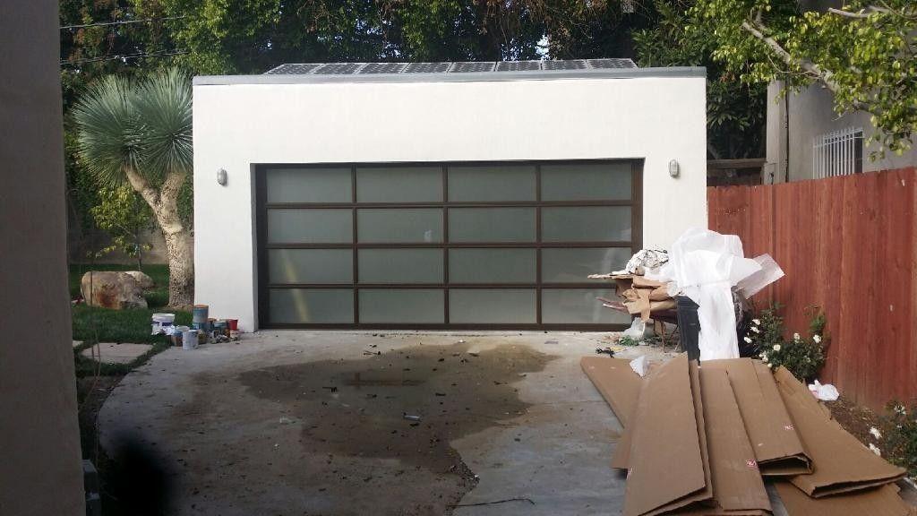 Glass Garage Door Full View Aluminum Frosted Sandblast Garage